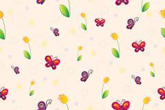 Spring seamless wallpaper Stock Illustration