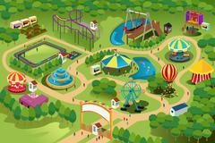 Amusement park map Piirros