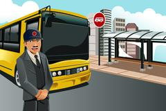 Bus driver - stock illustration