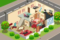 People at home Stock Illustration