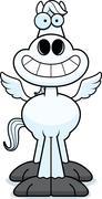 Happy Cartoon Pegasus Stock Illustration