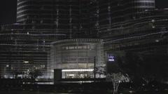Burj Khalifa and a moon Stock Footage