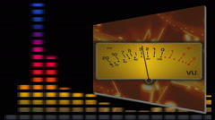 VU meter with lively audio bars Stock Footage