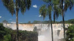 Iguacu (Iguazu) falls on a border of Brazil and Argentina Stock Footage