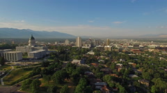 Aerial Utah Salt Lake City - stock footage