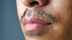 man shaving, 4K, - stock footage