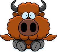 Stock Illustration of Cartoon Buffalo Wings Sitting