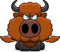 Cartoon Sly Buffalo Wings - stock illustration