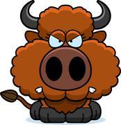 Cartoon Buffalo Angry Piirros