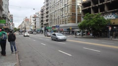 Avenue 18 de Julio in Montevideo. Stock Footage