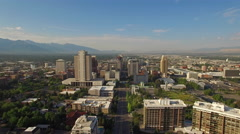 Aerial Utah Salt Lake City Stock Footage
