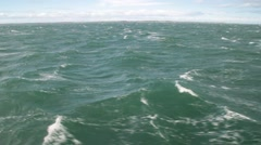 Waves of Magellan strait Stock Footage