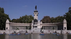 Buen retiro park madrid spain Stock Footage
