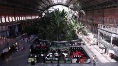 Atocha station, Madrid, Spain Stock Footage
