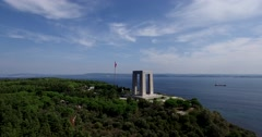 Canakkale Martyrs' Memorial Stock Footage