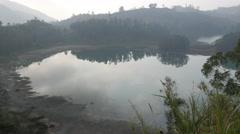 Telaga Warna lake,Dieng,Java,Indonesia Stock Footage