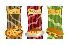 Italian food menu Stock Illustration