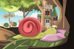 Lazy snail Stock Illustration