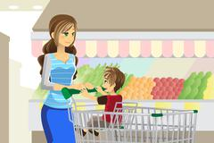 Stock Illustration of Grocery shopping
