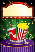 Movie theater background Piirros
