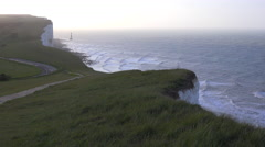 The White Cliffs of Dover near Beachy Head in Southern England. Stock Footage