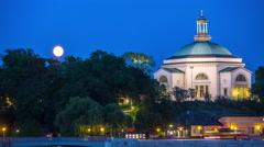 """Skeppsholmskyrkan """"Skeppsholmen Church"""" in central Stockholm Stock Footage"""