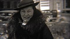 1937: Women wearing fashion hats like bollers. Stock Footage