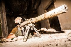 Navy Seal Sniper - stock photo