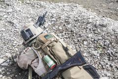 Navy SEAL in action - stock photo