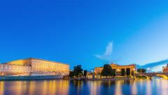 The Royal Palace in Stockholm, Sweden Stock Footage