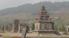 Arjuna ancient hindu temple complex ,Dieng,Java,Indonesia Stock Footage