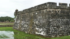 Stock Video Footage of Oldest Masonry Fort Castillo de San Marcos and Walls in St. Augustine Florida