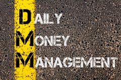 Business Acronym DMM as DAILY MONEY MANAGEMENT - stock illustration