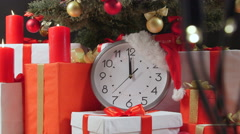 Stock Video Footage of Christmas Eve and Twelve Of The Clock