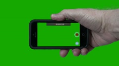 Smart Phone and Green Screen Stock Footage