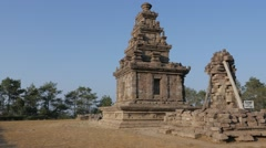 Ancient hindu temple,Gedung Songo,Java,Indonesia Stock Footage