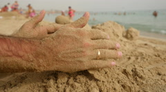 Sand in the hands. Stock Footage