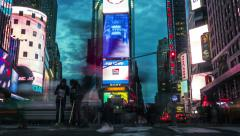 Time lapse of Times Square. Manhattan, New York. From day to night. Stock Footage