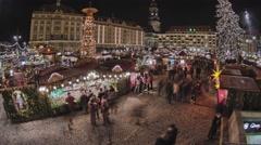 Striezelmarkt Dresden Christmas Market Timelapse Germany 02 Stock Footage