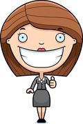 Stock Illustration of Cartoon Business Woman Thumbs Up