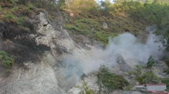 Steaming hot sulphur spring,Gedung Songo,Java,Indonesia Stock Footage