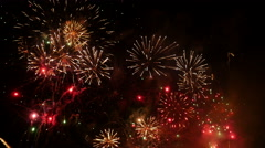 Fireworks. Holiday celebration. Stock Footage