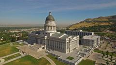 Aerial Utah Salt Lake City Stock Footage