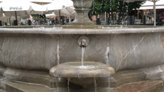 Closeup of the fountain in the Plaza Nueva of Granada, Spain. Stock Footage