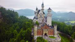 Amazing Neuschwanstein castle - stock photo