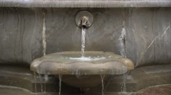 Close-up of Plaza Nueva Fountain Stock Footage