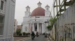 Gereja Blenduk dutch colonial church,Semarang,Java,Indonesia Stock Footage