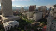 Aerial Utah Salt Lake City - stock footage