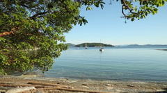 Gulf Islands Anchorage Afternoon, British Columbia Stock Footage