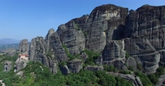 Big rocks on the mountains in Meteora, Greece. Stock Footage